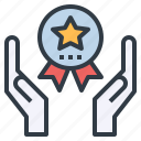adventage, award, benefit, best, prize, sake icon