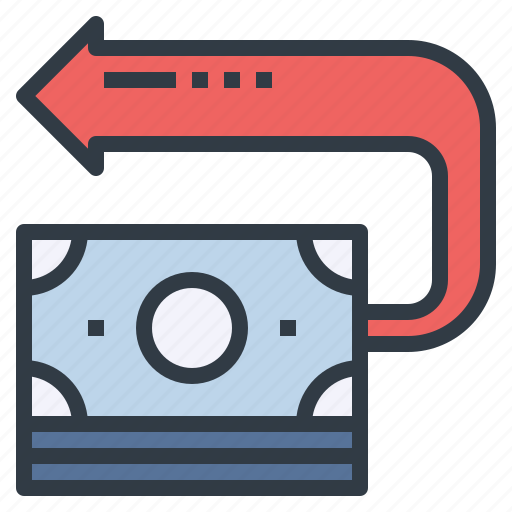 back, cash, investment, on, return, roi, tax icon