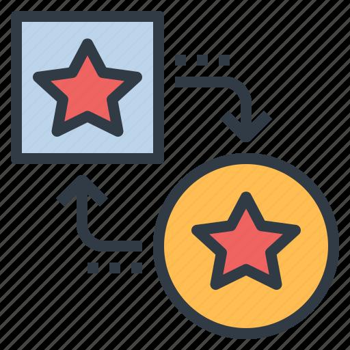 Adapt, convert, exchange, point, transfer, transform icon - Download on Iconfinder