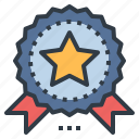 award, certified, guarantee, medal, prize icon