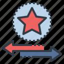 award, convert, exchange, point, redeem, transfer icon