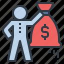 profit, money, cash, bag, benefit, rich