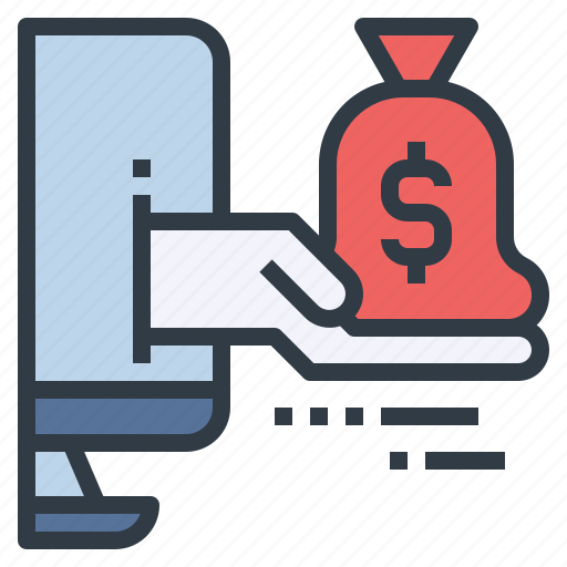 bag, earning, money, online, receive icon