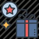 gift, present, prize, redeem, reward icon