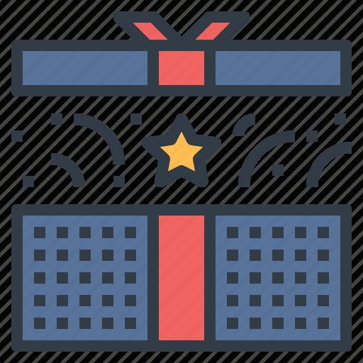 gift, present, reward, star, surprise icon