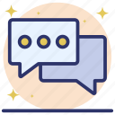 chat, communication, conversation, discussion, messaging icon