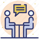 formal discussions, get together, meeting, meeting discussion, official meeting icon