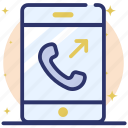 call, communication, mobile call, outgoing call, phone icon