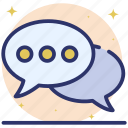chat, communication, conversation, discussion, messaging, speech bubbles icon
