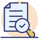 assessment, document review, evaluation, file monitoring, file review icon