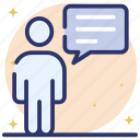 chatting, consultation, discussion, person communication, person conversation, talking icon