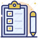 enquiry, feedback, opinion, questionnaire, survey icon