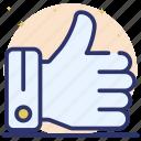 appreciation, customer rating, feedback, positive interaction, testimonial, thumbs up icon