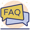 comments, faq communication, frequently ask questions, inquiry, questions and answers icon