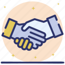 cooperation, coordination, handshake, partnership, teamwork icon