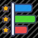 graph, bar, customer, review, chart, analytics, business