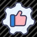 thumbs, up, badge, arrow, direction, navigation