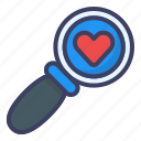 search, love, review, feedback, heart, find