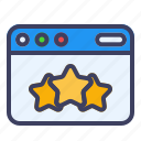webpage, star, seller, favorite, heart