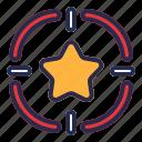 star, target, goal, favorite, aim, focus