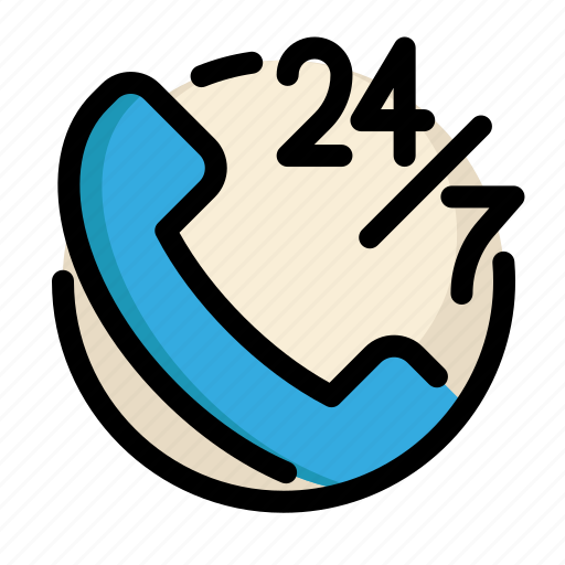 communications, customer, hours, information, phone, service icon