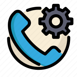 communications, customer, information, phone, service, settings icon