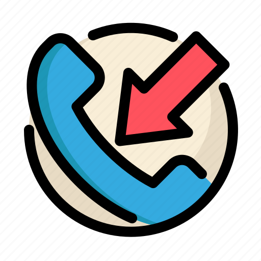 call, communications, customer, incoming, incoming call, information, service icon