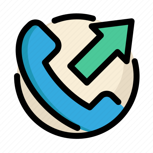 call, communications, customer, information, outgoing, outgoing call, service icon