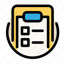 clipboard, communications, customer, information, service, tasks icon