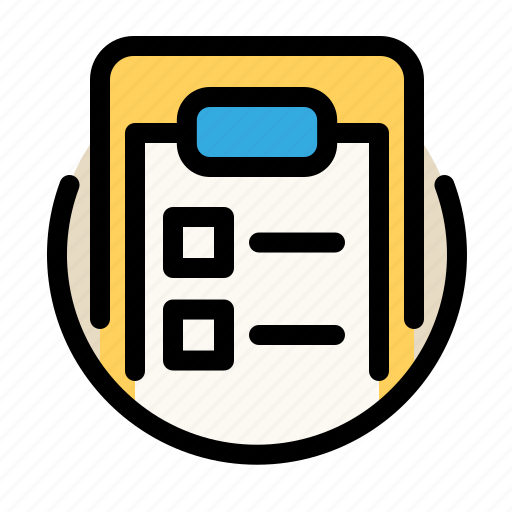 clipboard, communications, customer, information, service, tasks icon