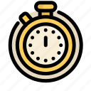 communications, customer, information, service, stopwatch, timer icon