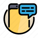 chat, communications, customer, information, phone, service, smartphone icon