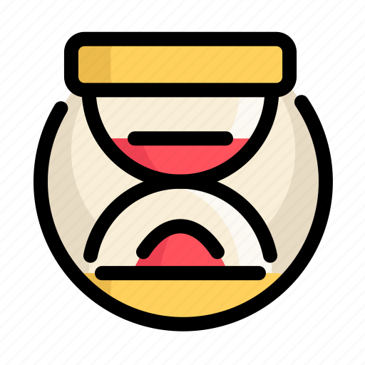 clock, communications, customer, hourglass, information, service icon