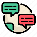 chat, communications, conversation, customer, information, service icon