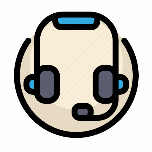 communications, customer, headset, information, microphone, service icon