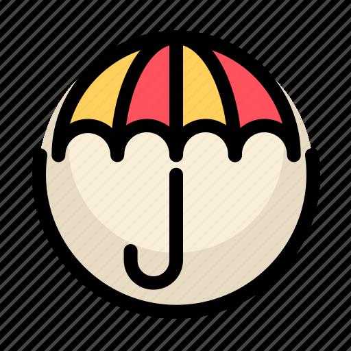 communications, customer, information, service, umbrella icon
