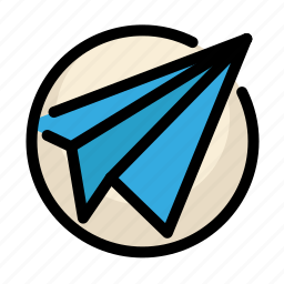 communications, customer, information, message, paper plane, service icon