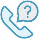 call, customer service, mark, question mark, receiver, telephone, vintage icon