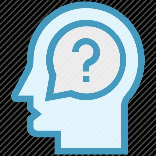 customer, customer service, head, question mark, service, support, user icon
