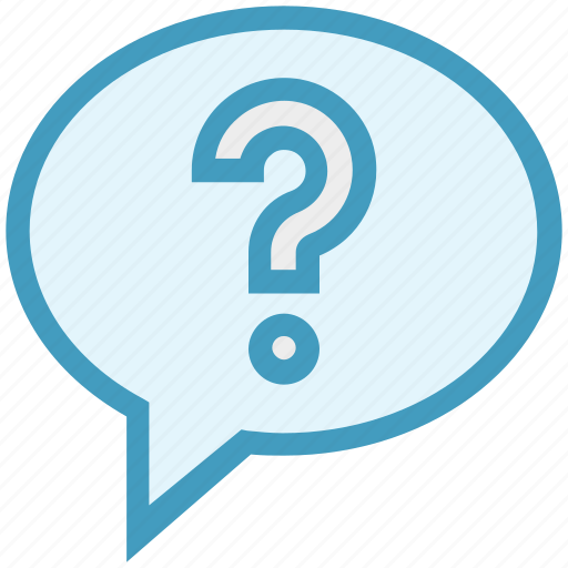 chat bubble, conversation, customer service, mark, message, question mark, support icon