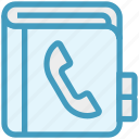 address, address book, book, contact book, customer service, phone, support icon