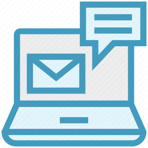 computer, customer service, email, envelope, laptop, service, support icon
