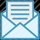 customer service, email, envelope, letter, mail, paper, post