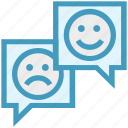 chatting, comment, customer service, happy, sad, service, support