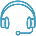 customer service, earphone, headphone, headset, help, service, support icon