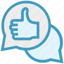 comments, communication, like, messages, service, support, thumb icon