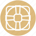 customer service, disk, help, lifebuoy, service, support, tech support icon
