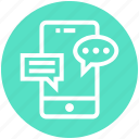 conversation, customer service, messages, mobile, phone, service, support icon