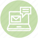 computer, customer service, email, envelope, laptop, service, support