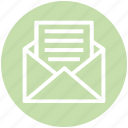 customer service, email, envelope, letter, mail, paper, post icon